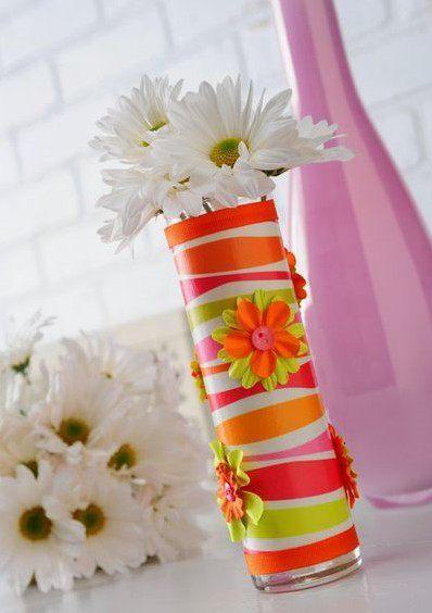 Украшение вазы своими руками фото