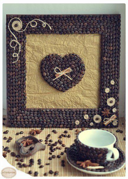 Идеи из кофейных зерен