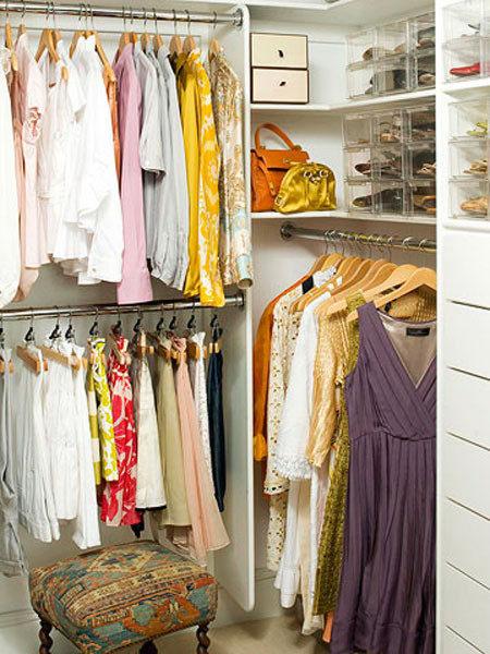 Системы хранения вещей для гардеробной своими руками