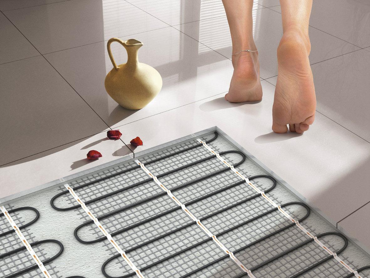Теплые электрические полы в ванной своими руками