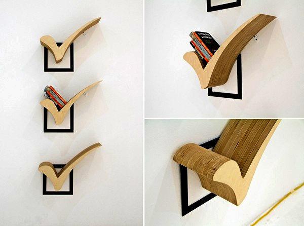 Полочка для книг из дерева своими руками фото