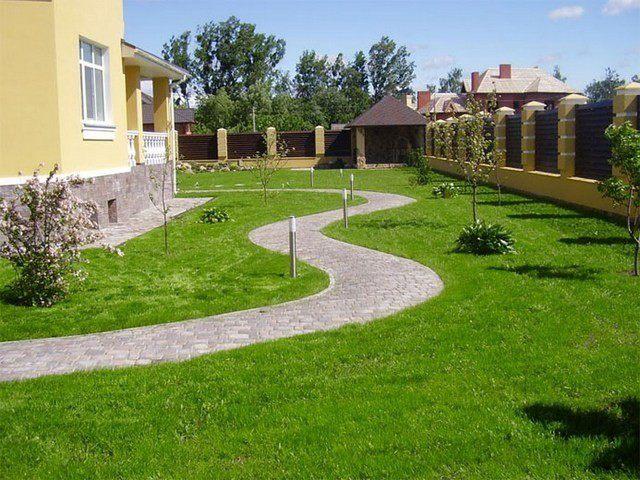 Ландшафтный дизайн вокруг дома фото