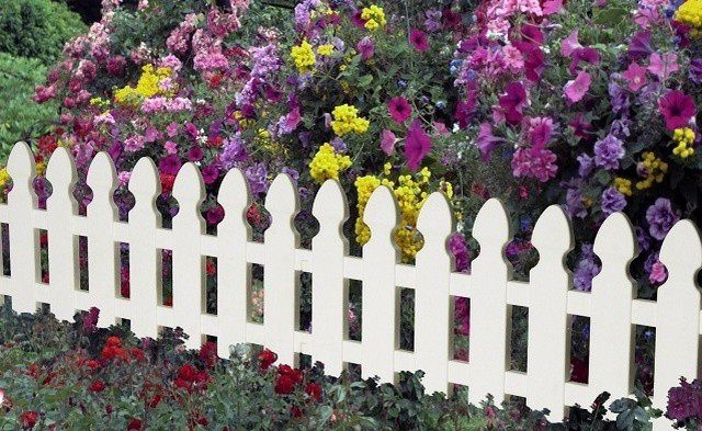 Декоративный забор для клумб фото