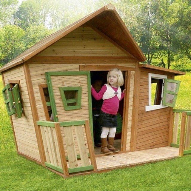Деревянный домик для ребенка на даче своими руками