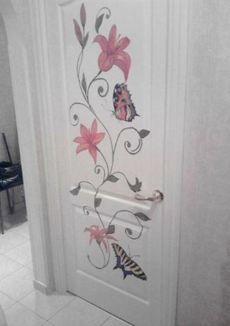 Декорирование дверей межкомнатных своими руками фото
