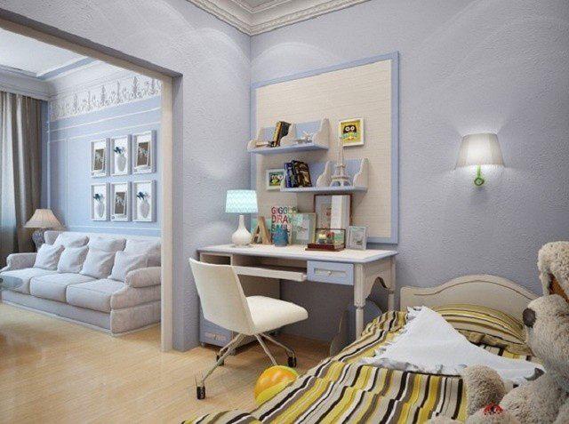 Дизайн детской и спальни для родителей в одной комнате