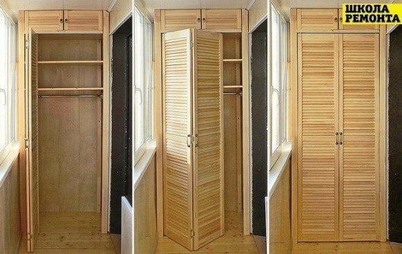 Встроенный деревянный шкаф своими руками.