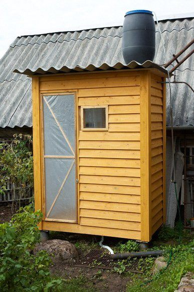 Сделать душ на даче с подогревом