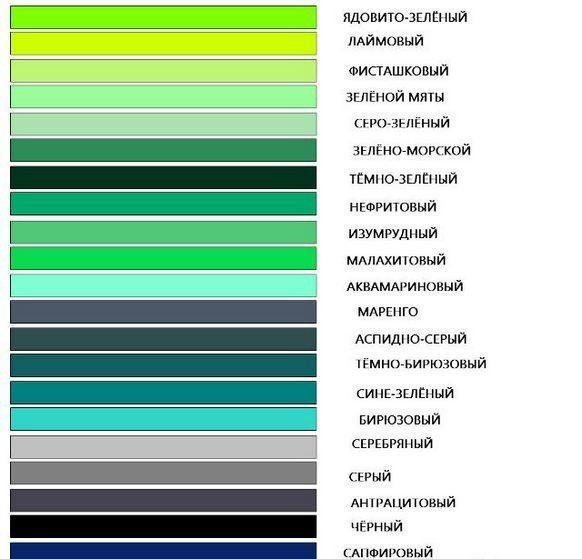 Как сделать оттенки зеленого 837