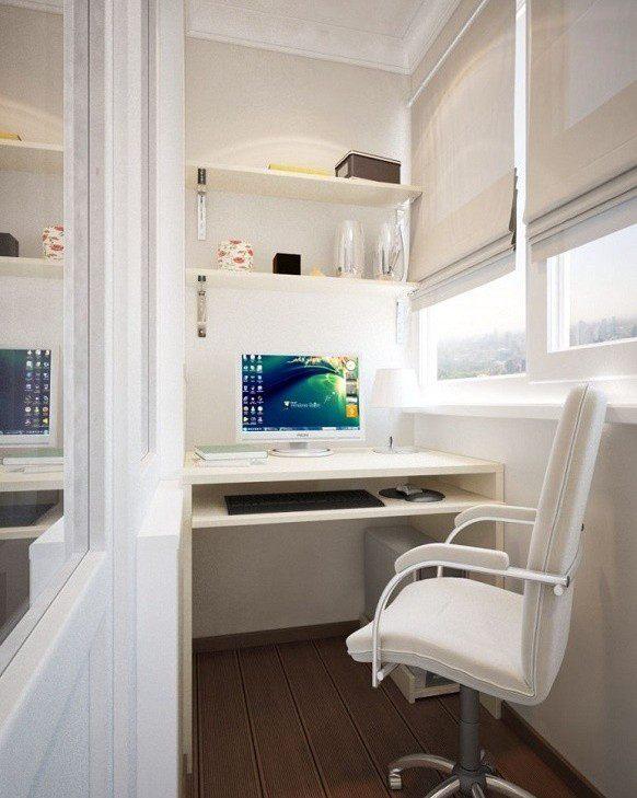 Дизайн лоджии кабинета