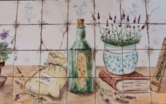 Роспись старой плитки