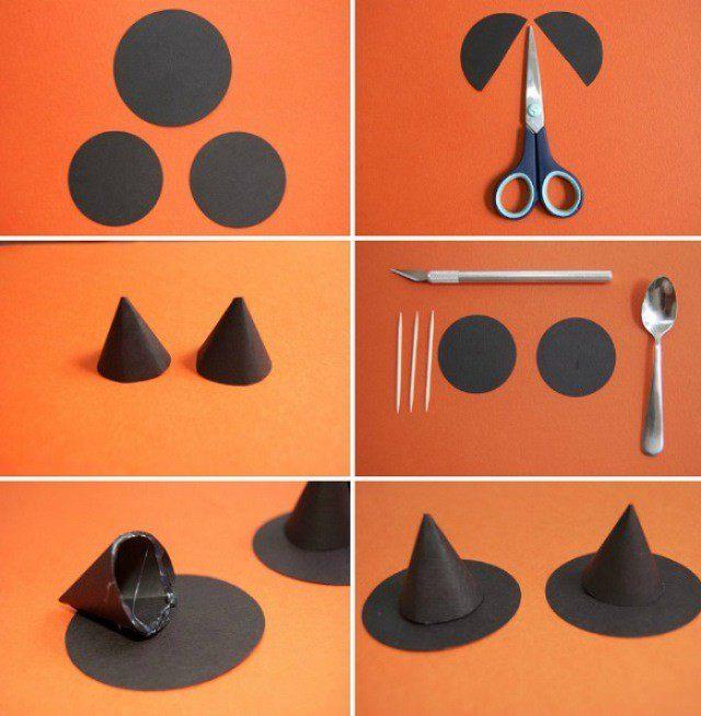 Как из бумаги сделать шляпу ведьмы своими руками
