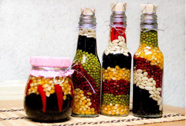 Декор бутылок и банок для кухни