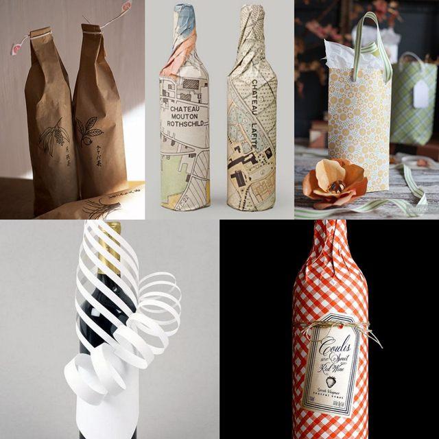 Бутылка упаковать своими руками 146
