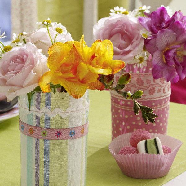 декоративные вазы своими руками ваза из стеклянной бутылки