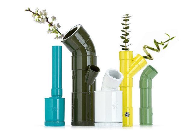 как сделать вазу с куска труби