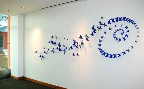 Декор бабочки на стене как сделать своими руками фото 952