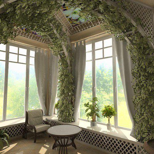 зимний сад дома своими руками