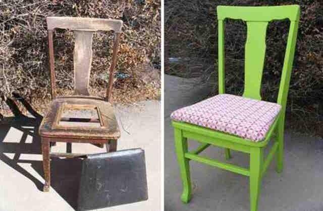 Как своими руками преобразить старый стул фото 158