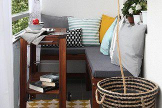 Как преобразить маленький балкон: 5 идей, 15 примеров