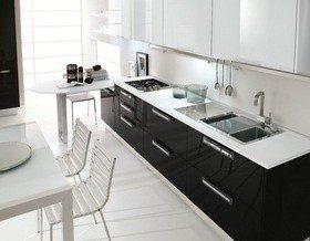Мы выбрали: 6 черно-белых кухонь из каталога DOM.by