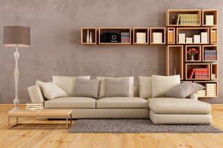 Диван для большой компании, пушистый ковер и много дерева: пробуем повторить интерьер гостиной с картинки