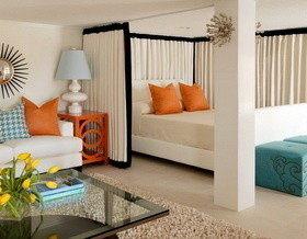 Совмещенные спальня и гостиная: 22 примера