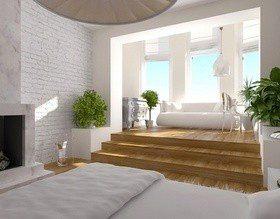 Подиум в интерьере спальни