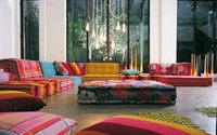 Модульный диван Mah Jong – красочный и необычный
