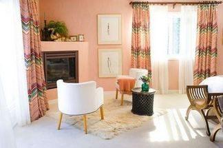Персиковый цвет в интерьере: примеры