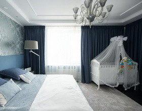 Классическая спальня с местом для ребенка: как повторить?