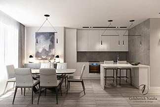 Дизайн-проект двухкомнатной квартиры от Студии архитектуры и дизайна Натальи Голубович