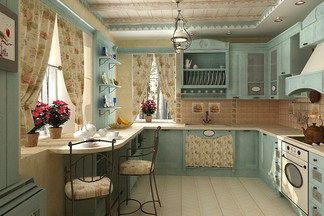 В стиле прованс: на  конкретном  примере посчитали стоимость кухни, 15  кв.м.