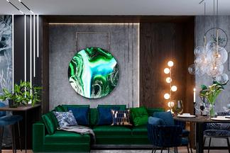 Интерьер, который выражает самобытность и характер. Посмотрите на дизайн-проект для квартиры на улице Ратомской