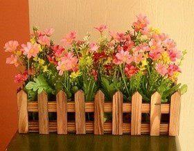 Необычные ограждения для цветочной клумбы