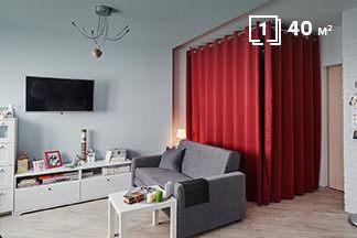 Правильное зонирование, мебель Ikea и сочные оттенки: однокомнатная квартира молодой девушки по проспекту Дзержинского