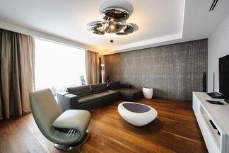 Квартира по улице Ефросиньи Полоцкой: современный интерьер в стиле модерн