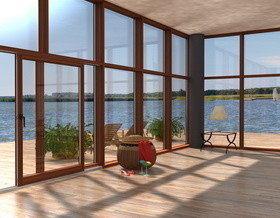 Дерево-алюминиевые окна от ООО «Словечно-Древ» — это природная гармония и функциональный уют в вашем доме