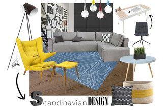 Дизайнер Вера Нарейко собрала  молодежный интерьер в скандинавском стиле с  товарами из каталога DOM.by