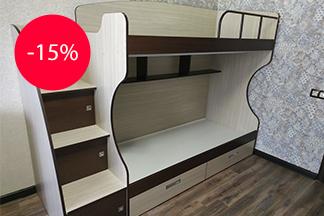 Компания «VIK-MEBEL» дарит скидку 15% на все двухъярусные кровати!