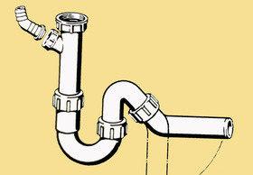 Как установить сифон на кухне и в ванной?