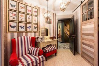 В гостях: двухуровневая квартира для молодой семьи, оформленная в стиле английского завода