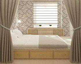 На высоте: интерьер спальни с кроватью-подиумом