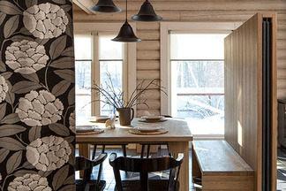 Солнечный интерьер деревянного дома в Подмосковье по проекту белорусского дизайнера