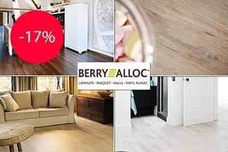 Скидка 17% на ламинат BerryAlloc от салона-магазина «Elecord»
