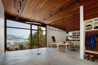 Дом в США: жилой интерьер и художественная студия под одной крышей