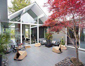 Дом с внутренним двориком в Калифорнии