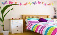 «Окрыляем» стену, или Декор бабочками