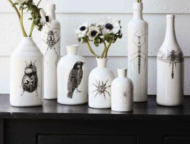 Необычное использование бутылок Дизайн интерьера