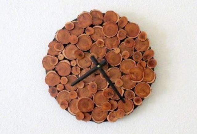 часы своими руками из дерева фото
